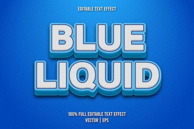 Blauer flüssiger bearbeitbarer texteffekt im comic-stil