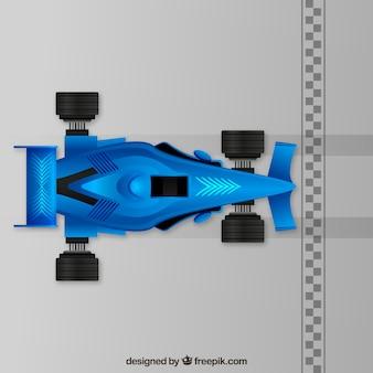 Blauer formel 1 rennwagen
