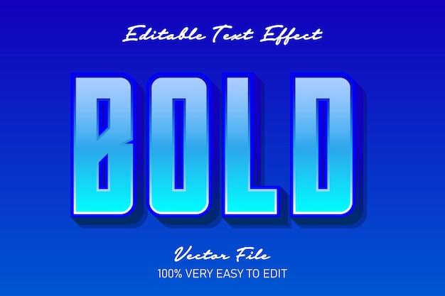 Blauer frischer moderner texteffekt