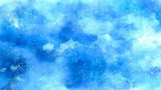 Blauer galaktischer hintergrund