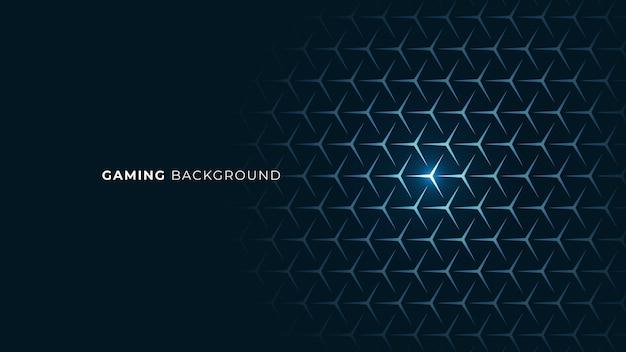 Blauer gaming-stil futuristischer scifi neon glow abstrakter hintergrund Premium Vektoren