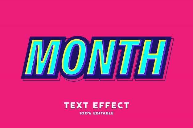 Blauer gelber pop-art-textstileffekt
