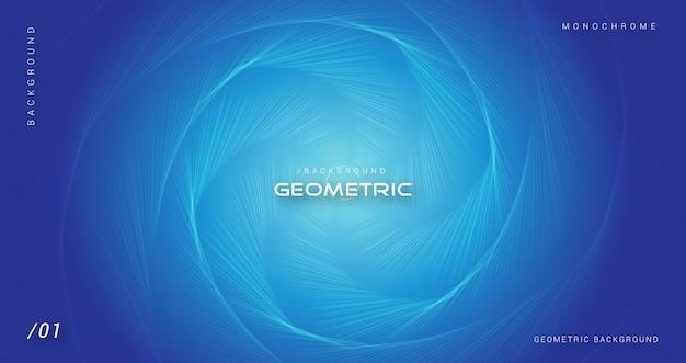 Blauer geometrischer abstrakter sechseckiger hintergrund