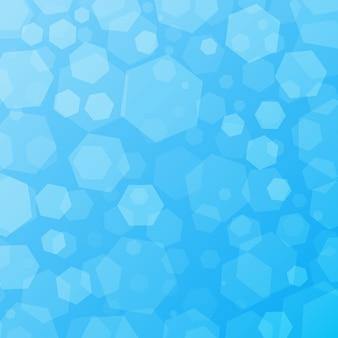 Blauer geometrischer abstrakter techno hintergrund mit hexagonen