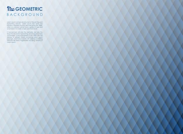 Blauer geometrischer hintergrund der abstrakten quadratischen streifenlinie,