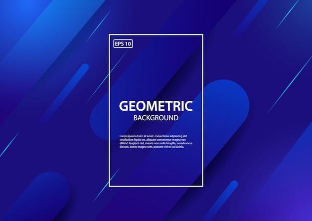 Blauer geometrischer hintergrund. illustration