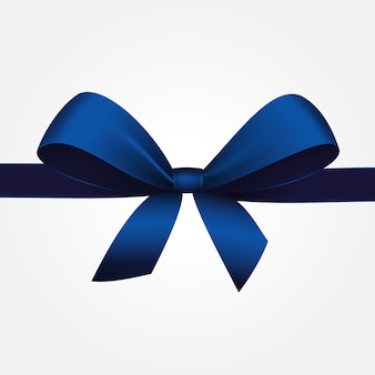 Blauer geschenkbogen mit band