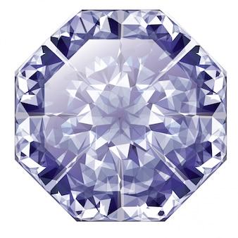 Blauer glänzender diamant