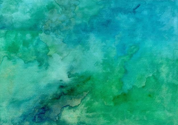 Blauer grüner abstrakter aquarellbeschaffenheitshintergrund