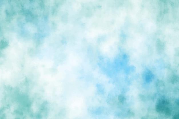 Blauer grüner aquarell-schmutzpinselhub-hintergrund