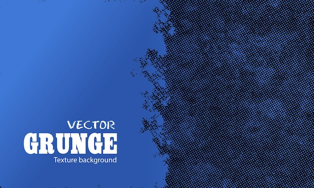 Blauer grunge mit halbtonhintergrund
