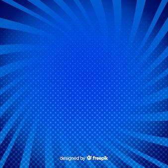 Blauer halbton comic-hintergrund