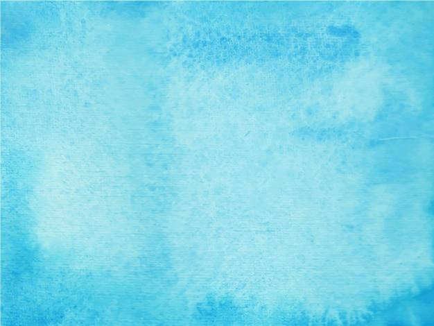 Blauer handgemalter aquarellbeschaffenheit abstrakter aquarellhintergrund.