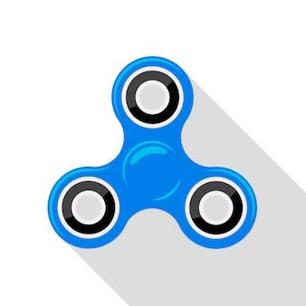 Blauer handspinner des flachen designs keine steigung oder transparenz