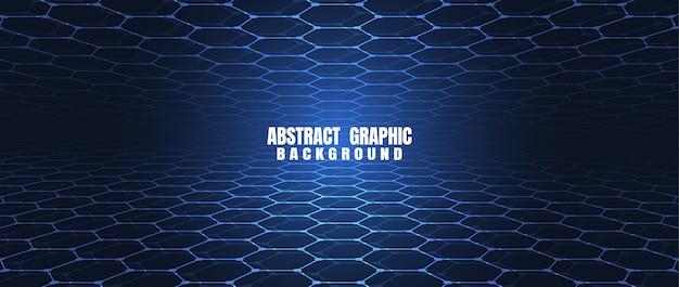 Blauer hexagonmusterhintergrund der abstrakten technologie