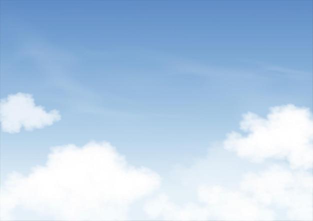 Blauer himmel mit altostratuswolken