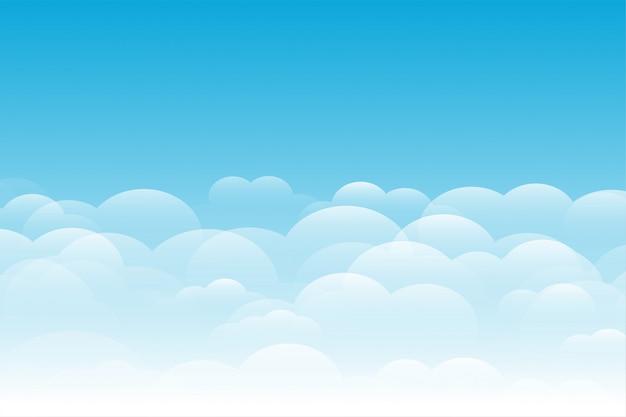 Blauer himmel mit wolkenhintergrund elegant