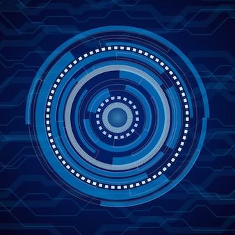 Blauer hintergrund der abstrakten internet-technologie. digitales elektronisches futuristisches system
