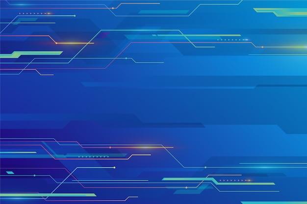 Blauer hintergrund der farbverlaufstechnologie