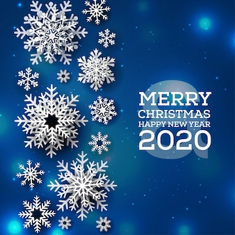 Blauer hintergrund der frohen weihnachten