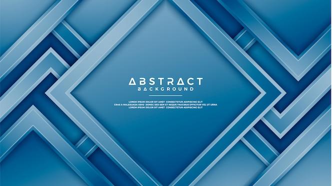 Blauer hintergrund der geometrie mit art 3d.