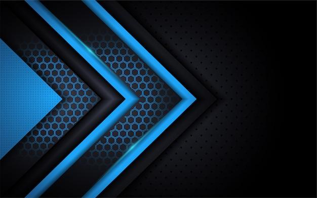 Blauer hintergrund der modernen technologie mit abstrakter art