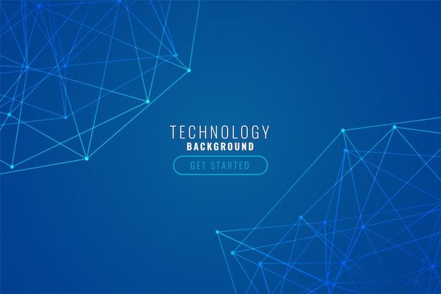 Blauer hintergrund des abstrakten technologiedrahtgeflechts