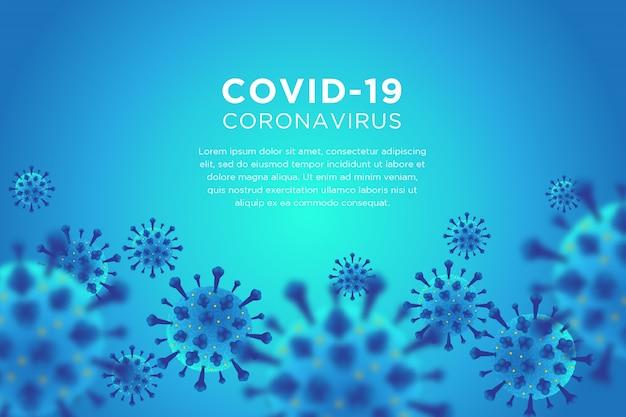 Blauer hintergrund des covid-19-coronavirus