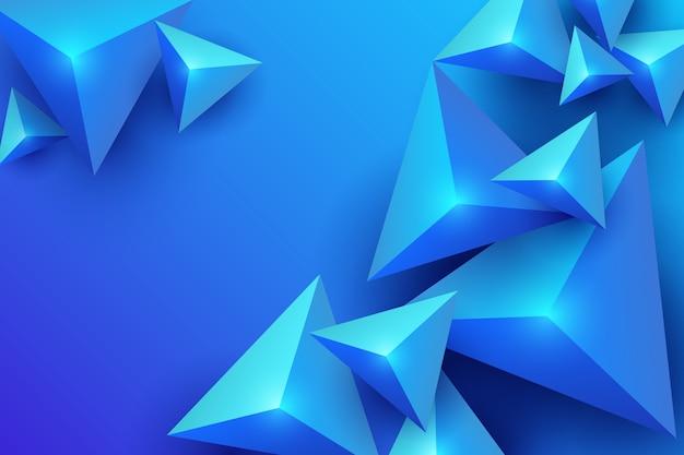 Blauer hintergrund des dreiecks 3d