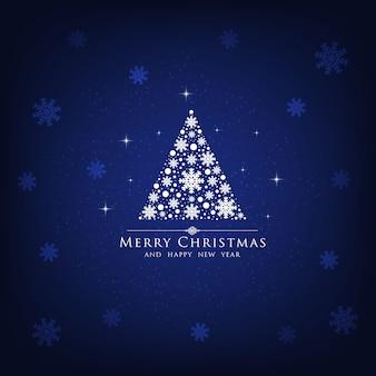 Blauer hintergrund des weihnachtsbaumfeiertags.