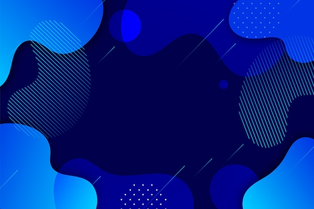 Blauer hintergrund mit abstrakten formen
