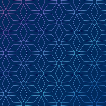 Blauer hintergrund mit abstrakten geometrischen muster