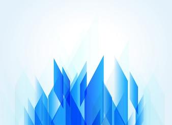 Blauer Hintergrund mit abstrakter geometrischer Form