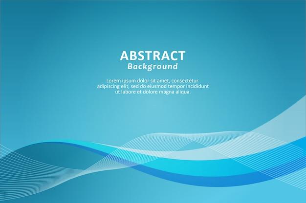 Blauer hintergrund mit dynamischen abstrakten formen.