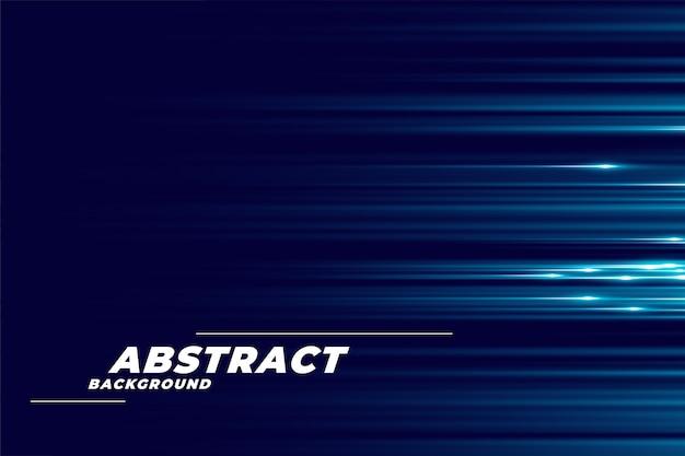 Blauer hintergrund mit glühenden horizontalen linien