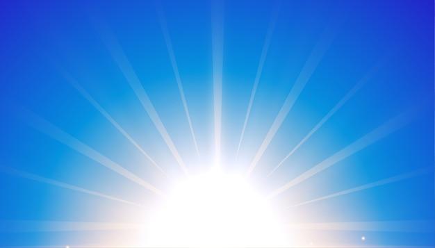 Blauer hintergrund mit leuchtendem lichteffektdesign
