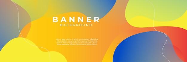 Blauer hintergrund mit orange und gelber farbzusammensetzung in der zusammenfassung. abstrakte hintergründe mit einer kombination aus linien und kreispunkten können für ihre werbebanner, verkaufsbanner-vorlagen und mehr verwendet werden.