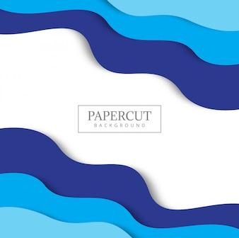 Blauer Hintergrund mit Papier schnitt Formen.