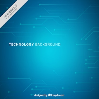 Blauer hintergrund mit technologischen schaltungen