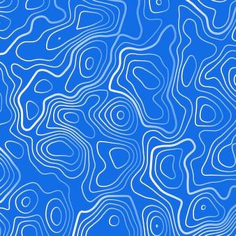 Blauer hintergrund mit weißen topographischen weißen konturlinien