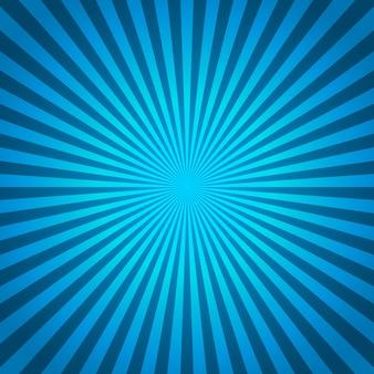 Blauer hintergrund von radialen linien in der komischen art