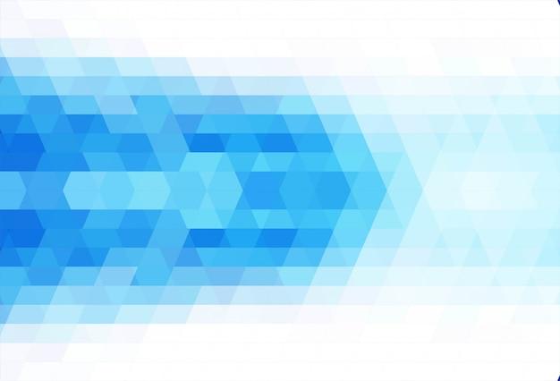 Blauer hintergrundvektor des abstrakten dreiecks