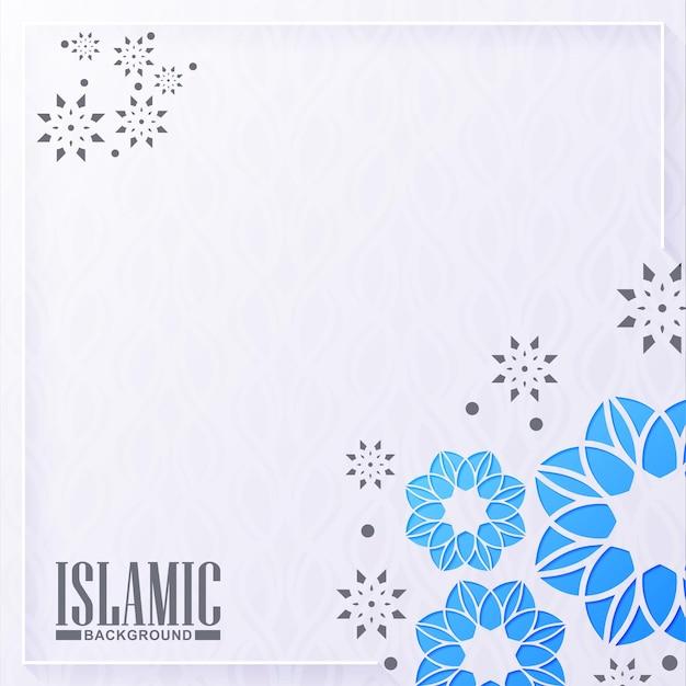 Blauer islamischer hintergrund mit mandalastil
