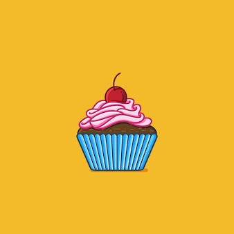 Blauer kleiner kuchen