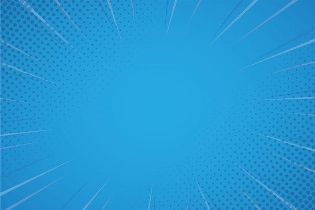 Blauer komischer hintergrund mit halbtonbild