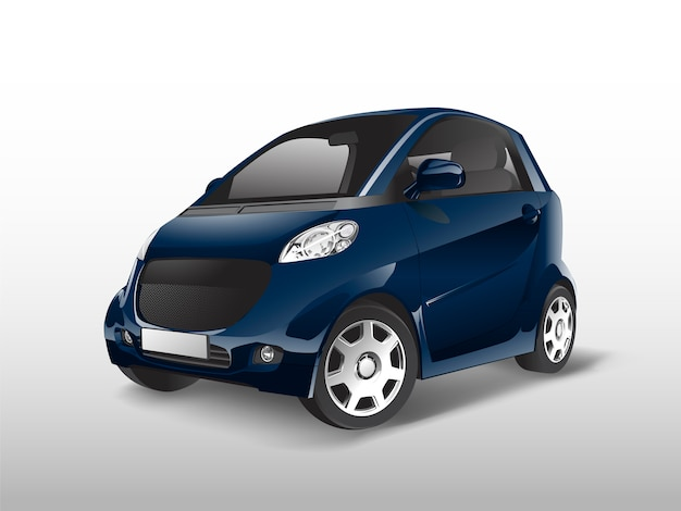 Blauer kompakter hybridautovektor