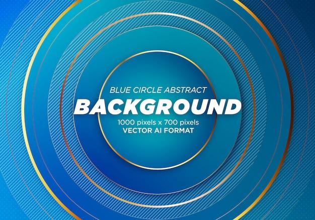 Blauer kreis-zusammenfassungs-hintergrund
