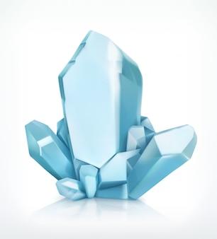 Blauer kristall,