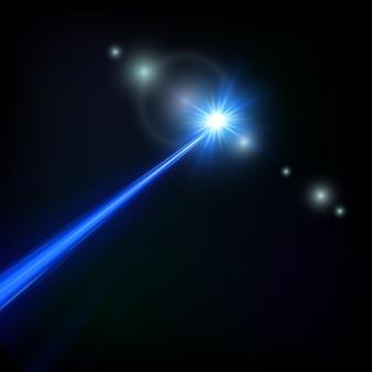 Blauer laserstrahl