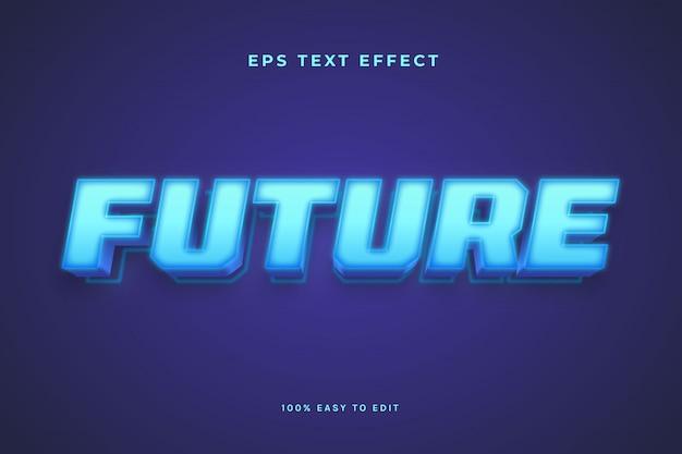 Blauer licht zukünftiger texteffekt